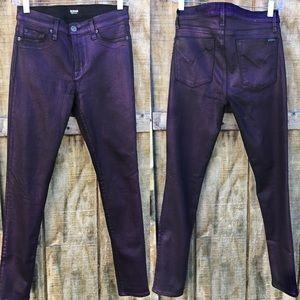 Deep Metallic Purple Hudson Jeans